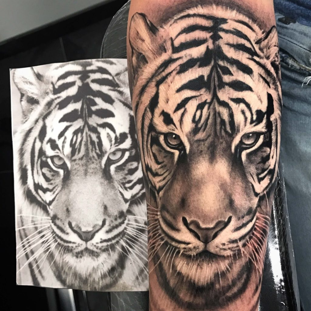 Tijger 5 True Colours Tattoo
